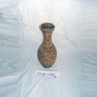 宏盛美式家具复古做旧 花瓶 摆饰手工编制置地式花器园艺阳台花器