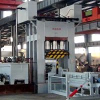供应利用速生竹材压制重组竹重竹地板冷压机-青岛国森