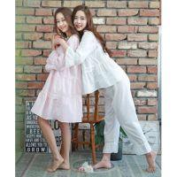 2015韩国夏季热销爆款 可爱闺蜜姐妹装 女士宽松睡衣睡裙薄款套装