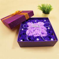 现货直供高端香皂玫瑰花礼盒A024-1鲜花店专用永生花仿真花特价