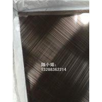 供应深圳不锈钢交叉拉丝加工厂家 201玫瑰金斜发纹不锈钢 黑钛哑光交叉拉丝不锈钢板