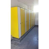 厂家定做公共厕所隔断富诚达耐水防火卫生间隔板易清洁