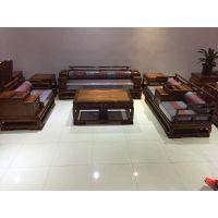 刺猬紫檀新中式沙发1+2+3六件套价格 图片 名琢世家