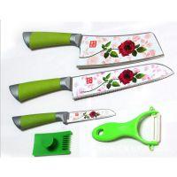 百年蔷薇刀具三件套装 跑江湖地摊新产品批发 不锈钢厨用刀热卖