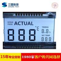 SAJ/三晶 广州电烤炉LCD液晶屏 电磁炉液晶显示屏 中山三晶LCD厂家定制