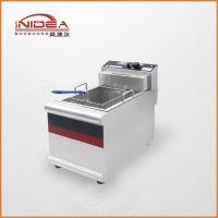 英迪尔 厂家直销 商用台式不锈钢单缸单筛电炸炉油炸锅 薯条炸锅