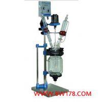 双层玻璃反应釜5L 双层玻璃反应器5L