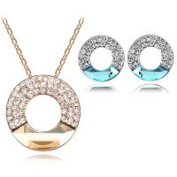 奥地利水晶项链 满钻圆环饰品项链-月亮代表我的心 Accessories