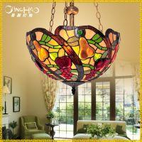 蒂凡尼田园吊灯温馨卧室餐桌吊灯工程装饰餐厅吊灯 欧式灯具批发