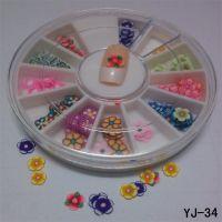 指甲饰品 水果软陶贴片 转盘超值装 12色/盒软陶饰品