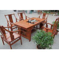 缅甸花梨将军茶台非洲花梨功夫茶桌红木茶桌价格图片