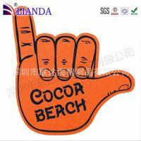 环保海绵手指 海绵手掌玩具 颜色形状可定制 异形加工 eva手掌