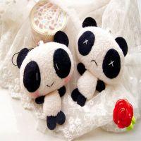 毛绒玩具情人节批发害羞熊猫挂件小熊猫公仔手机包包挂件熊猫玩偶