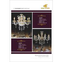 CVMA厂家直销 6018C-8A白炽灯欧式蜡烛水晶吊灯客厅餐厅卧室酒店工程吊灯