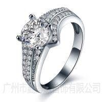 原创首饰设计925银韩版戒指广州银饰厂家批发纯银戒子