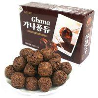 韩国食品 乐天泡芙球 黑加纳巧克力泡芙球 奶油泡芙气  35盒一箱