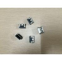 USB插座连接器USB母座大4PIN短体10.0mm90度直插卷边