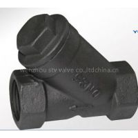 WCB Y type strainer, y strainer filter valve