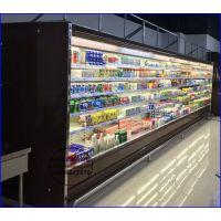 超市乳酸菌饮料展示冷藏柜 低温酸奶保鲜风幕柜 十堰立风柜全国联保