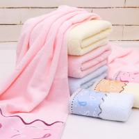 巾美佳浴巾厂 直销32股小鱼浴巾 亲肤柔软健康低价批发