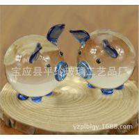 精美盒装人造水晶情侣猪 创意可爱的玻璃猪招财猪工艺礼品