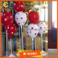 商场橱窗道具DP装饰彩色波点插杆气球道具