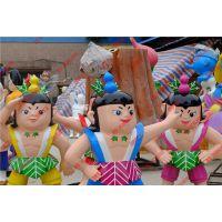 供应河南葫芦娃玻璃钢卡通雕塑 商场装饰摆设雕塑 园林景观美陈厂