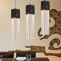 厂家直销简约餐厅灯具 吧台灯气泡水晶吊灯 三头饭厅餐厅吊灯