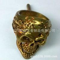 黄铜戒指加工|黄铜鬼头戒指|黄铜骷髅头饰品