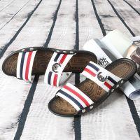 淘宝爆款男凉鞋夏季新款真皮透气沙滩鞋男士牛皮凉拖鞋温州批发