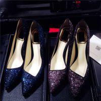 外贸春夏新款性感细高跟鞋欧美风尖头浅口羊皮里单鞋时尚女鞋