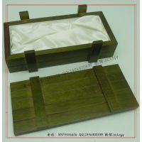 蓝绿色部队木盒 仿炸药箱子木盒 军队风格包装木盒厂家定做