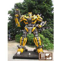 展会商场吸引人气大型变形金刚机器人出租大黄蜂擎天柱款