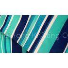 Multi Colored Plain Horizontal Striped Fabric , Modern Polyester Curtain Fabric