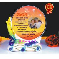 西安阿法瓷水晶奖牌制作 龙柱奖牌 心形陶瓷奖牌