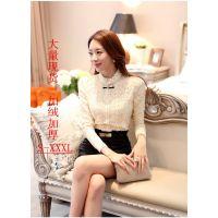 秋装新款 韩版大码女装雪纺罩衫上衣潮长袖打底衫