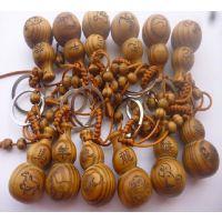 厂家批发直供  十二生肖木葫芦钥匙扣挂件  葫芦饰品汽车钥匙扣