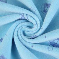 厂家直销 供应超柔印花水晶绒压花水晶绒刷花童装绒布压花面料