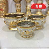大量供应 优质电镀金虎盆银沙陶瓷花盆 创意粗陶电镀花盆