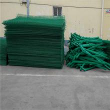 万泰铁丝围栏网 果园防护网 双边丝护栏
