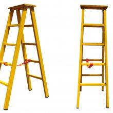 JYT-H-1米绝缘人字梯价格 咸阳玻璃钢材质全绝缘合梯叉梯