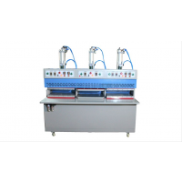 供应元威三工位冷热压合机 无车缝热压机 靴面定型机设备厂家直销