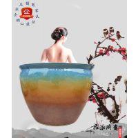 陶瓷大澡缸 青花瓷器温泉浴场会所浴缸 日本日式极乐汤澡缸
