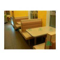 定做肯德基卡座沙发 中式西餐厅咖啡厅卡座沙发 时尚钢木卡座沙发