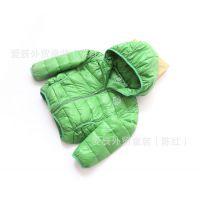 mf14-022【欧美】童羽绒服糖果色柔软保暖包边连帽羽绒服