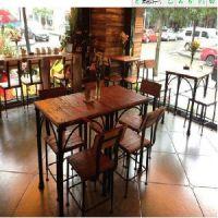 成套餐桌椅 休闲实木桌椅 餐厅桌子 一桌四椅家具定制