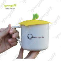 创意生活用品 枫叶硅胶杯盖 防尘防漏硅胶水杯杯盖 批发