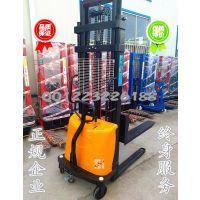 1吨1.5t2吨电动叉车 半电动堆高车 插电式液压升降车