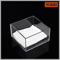 透明亚克力盒子 桌面收纳盒 精品饰品盒 餐巾纸盒 简约时尚纸巾盒