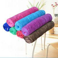 珊瑚绒35*75超细纤维双层加厚毛巾超柔吸水巾 厨房生活多功能毛巾